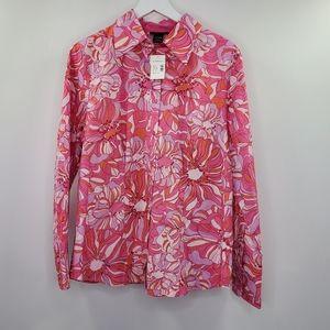 Lane Bryant Pink Floral Psychedelic Print Boho NEW